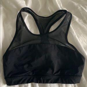 Lululemon black sports bra with mesh straps